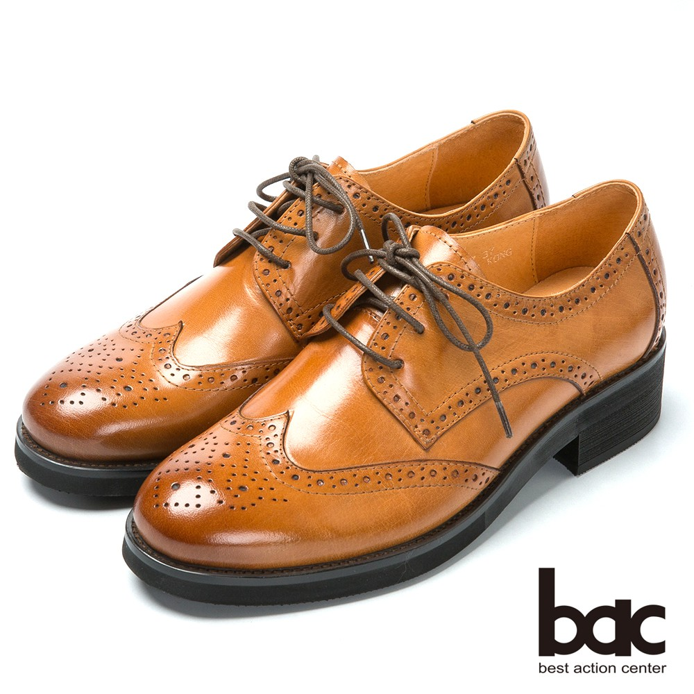 【bac】英倫學院 率性時尚牛津鞋-棕色