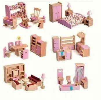 女孩儿童过家家玩具 diy迷你房子小家具 卧室 客厅 浴室 厨房餐厅共1299元