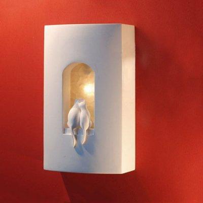 5Cgo【燈藝師】含稅會員有優惠14581476957設計師的燈兒童房石膏走道雕花樓梯床頭現代簡約創意壁燈小貓咪