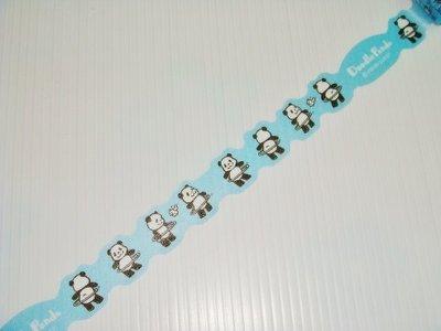 紙膠帶 日本 VQ-goods 貓熊呼拉圈 分裝50cm