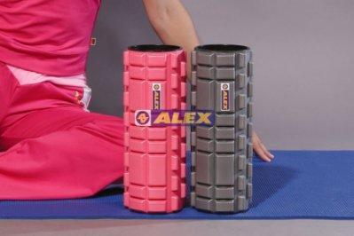 【運動王】 ALEX C-52 多功能 瑜珈滾筒 按摩滾輪 瑜珈柱 狼牙棒 三鐵 馬拉松 愛用 肌肉按摩 紓壓 滾筒