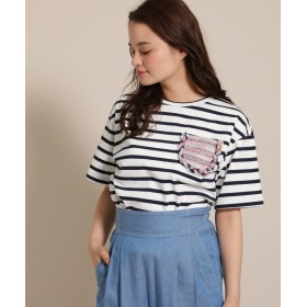 anatelier(アナトリエ) leur logette(ルール ロジェット)ツィードポケットTシャツ