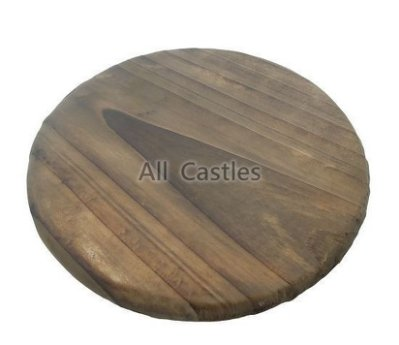 ~All Castles~ 圓形隔熱墊 18cm 木板 隔熱板 鍋墊 燒杉