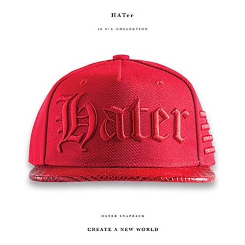 Hater Snapback【HT132】Gothic-Red Snapback 板帽