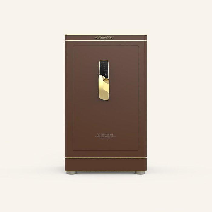【聚富保險箱】藝術凡爾賽Versailles E80咖啡金 頂級指紋密碼保險箱/ 保險櫃/ 智慧金庫/ 外出鎖定