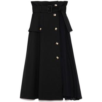 スナイデル SNIDEL スイッチングトレンチプリーツスカート (ブラック)
