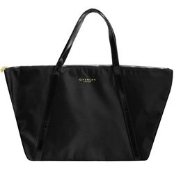 GIVENCHY 紀梵希 PARFUMS 時尚雙線購物袋(黑)