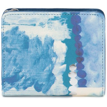 IEye's I Eye's アイアイズ Chinese blue 二つ折りファスナー財布 財布,ブルー