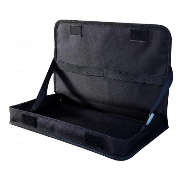 車之嚴選 cars_go 汽車用品【PR-33】G-SPEED 碳纖CARBON紋多功能後座頭枕固定餐盤飲料架 置物架