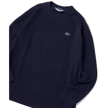 シップス 《made in Japan》LACOSTE×SHIPS JET BLUE: 別注 カノコ 袖リブ ロングスリーブ Tシャツ メンズ ネイビー 5 【SHIPS】