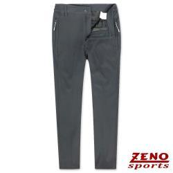 ZENO傑諾 極細刷毛彈性保暖長褲/鐵灰