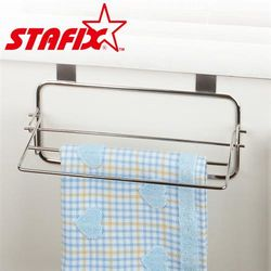 【韓國原裝進口STAFIX】全不銹鋼櫥櫃門板布巾掛架