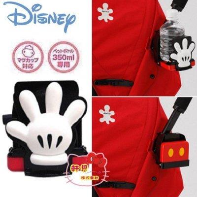 《軒恩株式會社》迪士尼 米奇 日本TOMY發售 手推車 嬰兒車 寶特瓶 飲料架 學習杯 杯架 331513