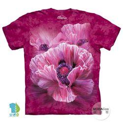 【摩達客】(預購)(中大尺碼)美國進口The Mountain 嬰粟美人花 純棉環保短袖T恤