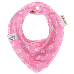 ImseVimse-有機棉領巾型圍兜(粉紅海軍)-行動
