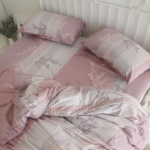 絲薇諾 精梳棉床包薄被套組/ (雙人/加大)(上野之森-花開 )四件組/台灣製