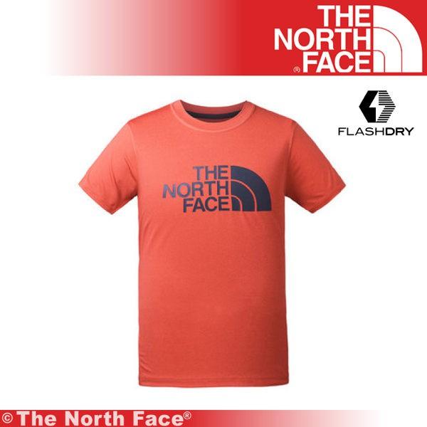 【The North Face 美國 男 排汗LOGO短T《紅白》】3CJM/吸濕排汗/透氣/短T/上衣/排汗衣/基本款