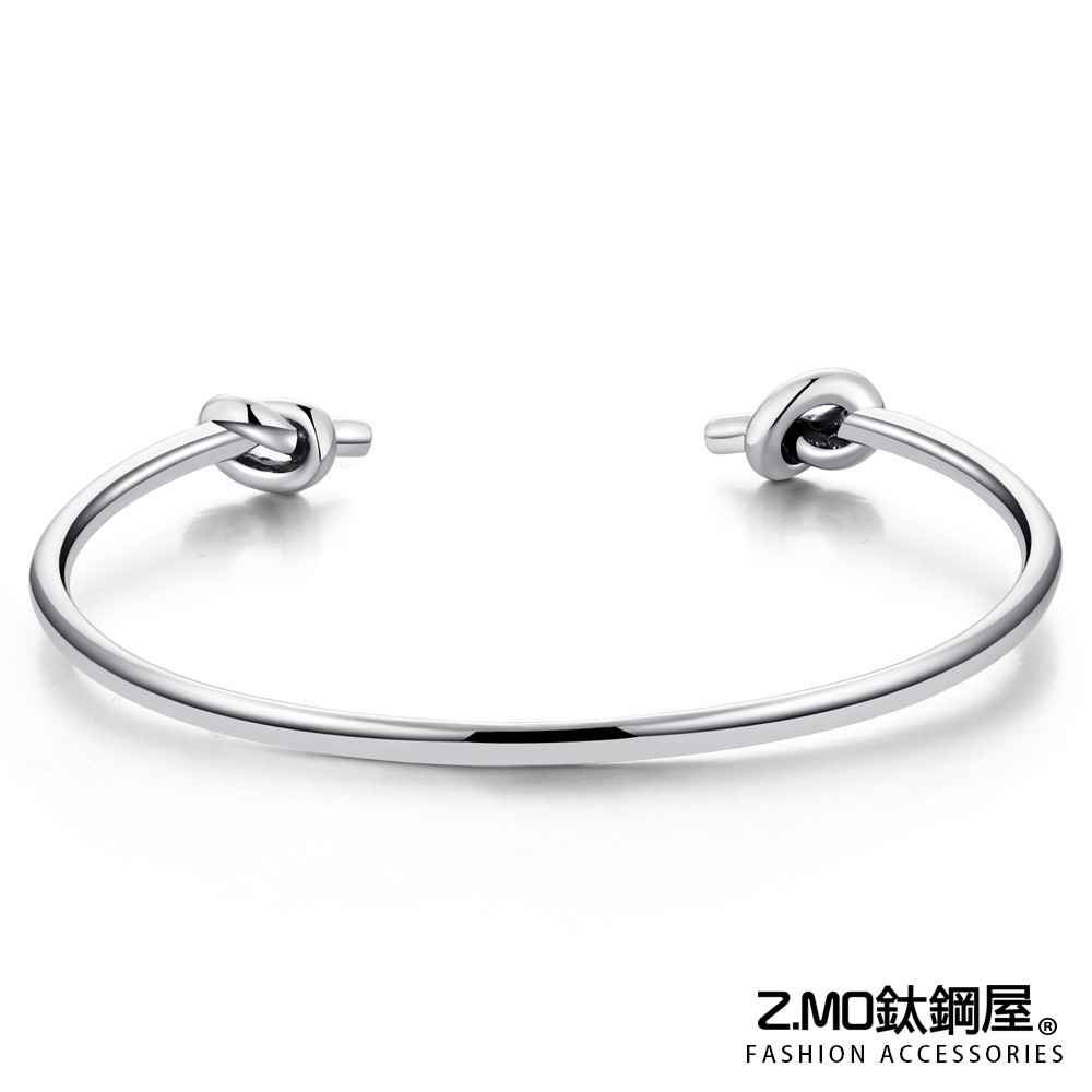 女款手環 Z.MO鈦鋼屋 雙繩結手鏈 可微調手鐲 鈦鋼手環 C型手鍊 精緻時尚風格 開口式手環 簡約氣質【AJS092】