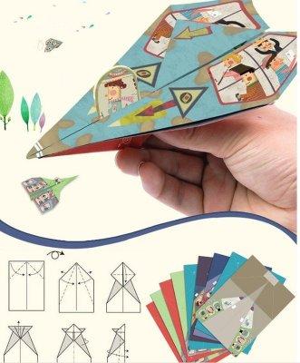 Mideer摺紙飛機 Paper airplane 彌鹿 經典童年兒童摺紙玩具diy.18