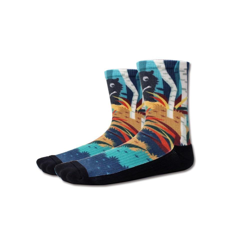 AREX SPORT 咖啡紗3D科技襪(小創襪)-臺灣黑熊