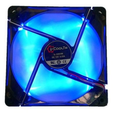 i COOLTW 12公分 LED風扇 藍光 紅光