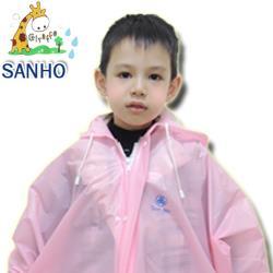 【Sanho】長頸鹿兒童雨衣/ 粉紅 (L_140~149cm)