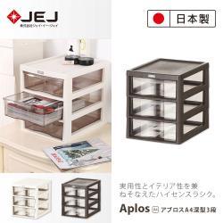 日本JEJ APLOS A4系列 桌上型文件小物收納櫃/深3抽 2色可選