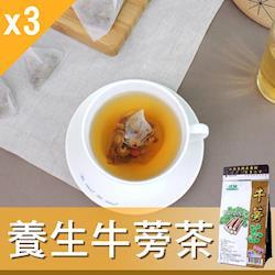 【Mr.Teago】牛蒡茶/養生茶/養生飲-3角立體茶包-3袋/組(27包/袋)