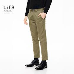 Life8-Formal 多剪接 金屬環 設計長褲-12011-墨綠/深藍/黑色