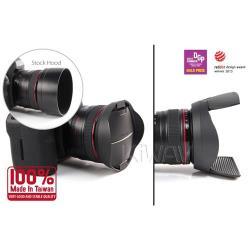 台灣HOOCAP二合一鏡頭蓋兼遮光罩TR77,適口徑77mm的半自動鏡頭蓋