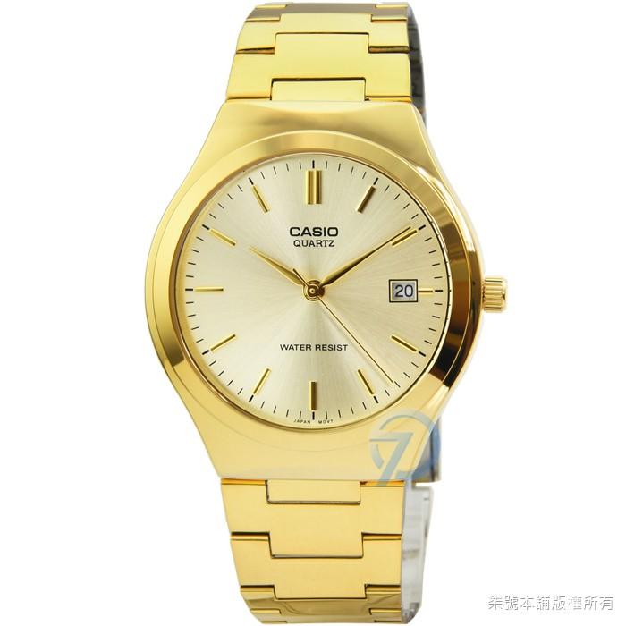 【CASIO】 卡西歐經典時尚鋼帶男錶-金 / MTP-1170N-9A (原廠公司貨)