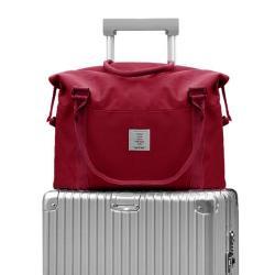 DF生活館 - 韓風大容量防潑水多功能旅行袋可掛行李箱-共3色