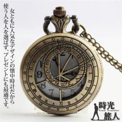 【時光旅人】尋寶羅盤古典造型復古懷錶/項鍊(長鍊設計)