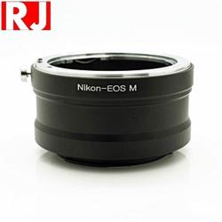 RJ製造鏡頭轉接環Nikon F轉EOS-M Nikon/F-EOS/M Nikon轉EOS-M(將尼康F接環鏡頭轉成Canon佳能EF-M卡口)