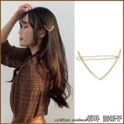 【Akiko Sakai坂井亞希子】愛在陽光下日系簡約氣質鏤空三角造型髮邊夾