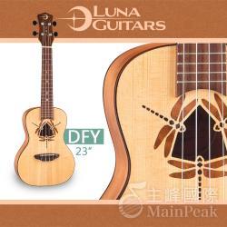 美國 LUNA 23吋烏克麗麗 蜻蜓鑲嵌響孔 UKE DFY SPR Concert Ukulele