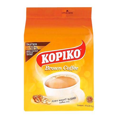 印尼 KOPIKO 三合一即溶黃糖咖啡(275g)【小三美日】D410820