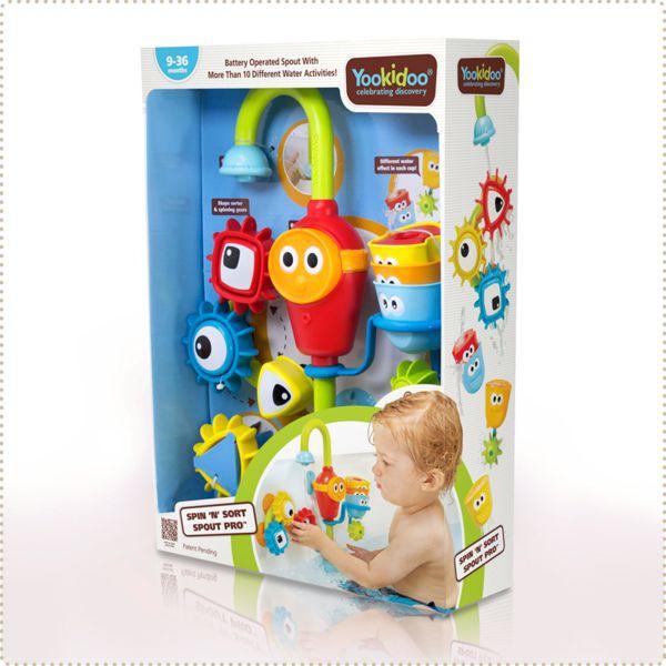 以色列 Yookidoo 戲水玩具-捉迷藏水龍頭齒輪套組|洗澡玩具【麗兒采家】