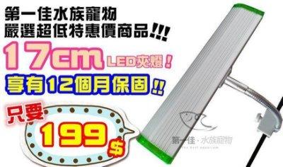 [第一佳 水族寵物]第一佳水族寵物嚴選超低特惠價商品-17cm全白LED夾燈 享有12個月保固!!