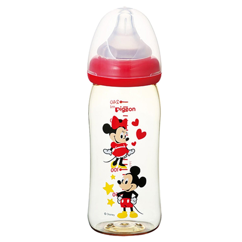 貝親 Pigeon - 迪士尼寬口PPSU奶瓶-米奇-紅色 (240ml)-M號奶嘴 3M以上