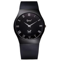 瑞士愛其華 Ogival-無暇系列超薄陶瓷時尚腕錶(質感黑)320-04MS