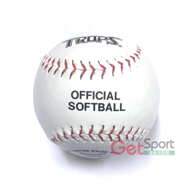 TROPS軟木硬式縫線壘球(比賽用)(慢速壘球/快速壘球/棒壘/softball/台灣製造)