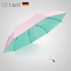 德國kobold酷波德 抗UV夏威夷風情超輕巧遮陽防曬三折傘-綠色