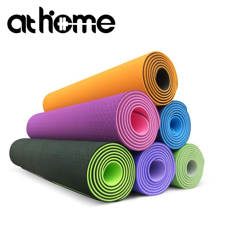 athome TPE雙色雙層無毒瑜珈墊6mm