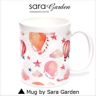 客製化 馬克杯 陶瓷杯 彩繪 水彩 漸層 輕旅行 熱氣球 Sara Garden