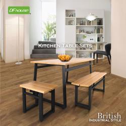 《DFhouse》英式工業風-餐桌+雙人餐椅+單人餐椅
