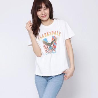 ファクターイコール Factor= イーグルプリントTシャツ (WH)