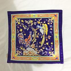 【協貿】奢華復古棉絨布料山雞沙發方形抱枕含芯