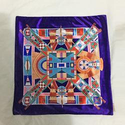 【協貿】奢華復古棉絨布料幾何拼接沙發方形抱枕含芯