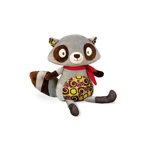 B.Toys 浣熊說什麼(迴聲娃娃) 玩具 寶寶 安撫 娃娃